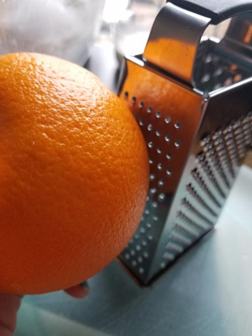 Orange zest use